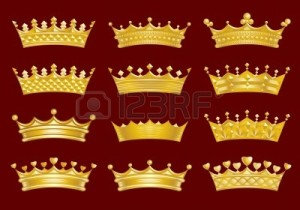 8559939-golden-crowns-set