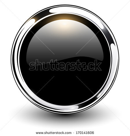stock-vector-black-shiny-button-with-metallic-elements-vector-design-170141606