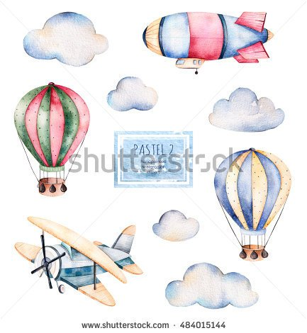 -clouds-airship-and-the-plane-in-